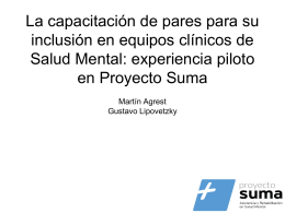Proyecto SUMA Buenos Aires. Argentina