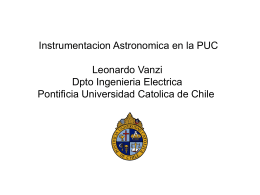 Astronomical Instrumentation at PUC
