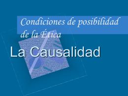Diapositivas sobre la Causalidad