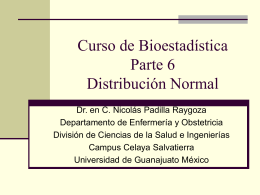 Biostatistics course Part 6. Normal distribution in Spanish