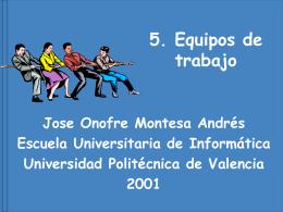 Equipos - Universidad Politécnica de Valencia