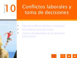 10. Conflictos laborales y toma de decisiones