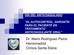 Autocontrol anticoagulación