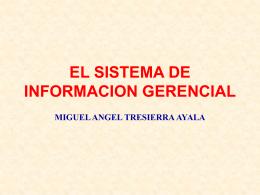 EL SISTEMA DE INFORMACION GERENCIAL