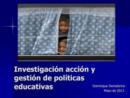 Dominique Demelenne. Investigacion Accion Conec 2013