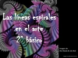 Las líneas espirales en el arte