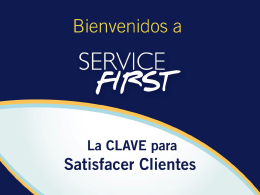 Welcome to Service First - customer service training customer