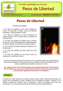 Pasos de Libertad 12, 13 y 14