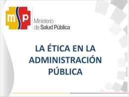 Código de Ética - Ministerio de Salud Pública