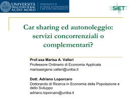 Car sharing ed autonoleggio: servizi concorrenziali o