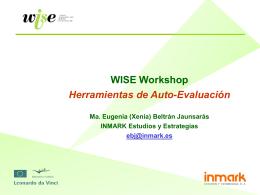 WISE Workshop Herramientas de Auto-Evaluación Ma