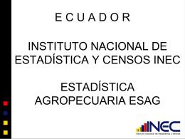 Estadística Agropecuaria ESAG