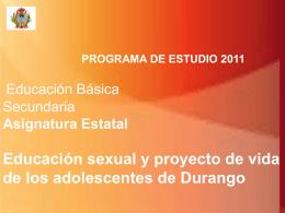 Educación Sexual y Proyecto de Vida.