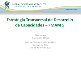 Desarrollo de Capacidades - Global Environment Facility