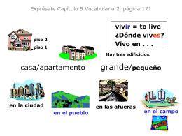 Exprésate Uno Capítulo 5 Vocabulario 2, página 171