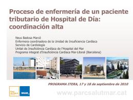 Proceso de enfermería de un paciente tributario de Hospital de Día