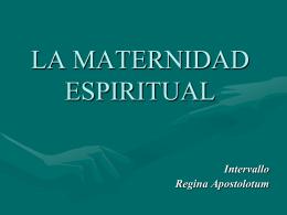 La Maternidad Espiritual - Las Hijas de la Caridad en Perú