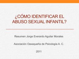 Cómo identificar el abuso sexual infantil