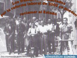 Reclamaciones al Estado por la reforma laboral de 2.002