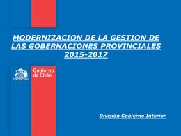 Presentación Mario Ossandón Modernizacion
