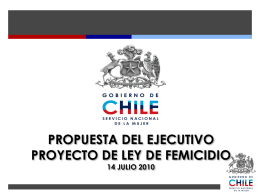 Propuesta del ejecutivo proyecto de ley de femicidio 14-07-2010