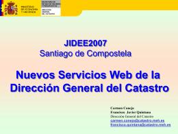 Servicios de mapas de la Dirección General del Catastro