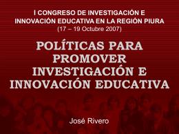 i congreso de investigación e innovación educativa en la región piura