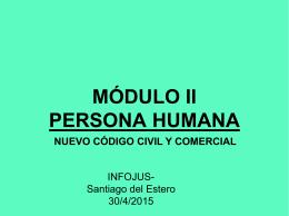 MÓDULO II PERSONA HUMANA - Centro Unico de Capacitación