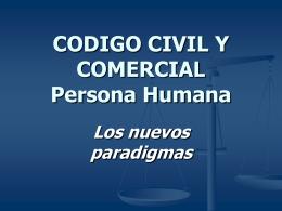 Persona Humana. Los nuevos paradigmas