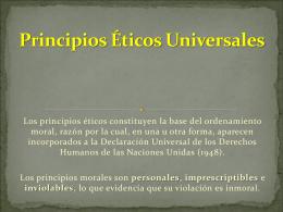 principios universales - Etica