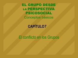 Tema 7. El conflicto en los grupos