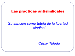 La sanción de las prácticas antisindicales