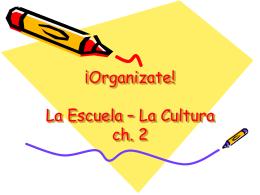 La Sistema de Educacion - Cultura y Los Objetos de La Clase