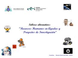 Recursos Humanos en Ayudas y Proyectos de Investigación