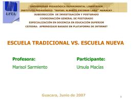 Escuela Nueva - Salón Virtual de la Universidad Pedagógica
