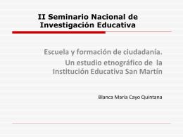 Escuela y formación de ciudadanía. Un estudio etnográfico