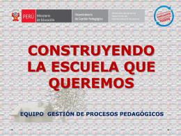 GESTIÓN DE PROCESOS PEDAGÓGICOS