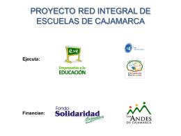 Proyecto Integral de Escuelas de Cajamarca PRIE.