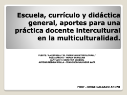 Escuela, currículo y didáctica, aportes para una práctica docente