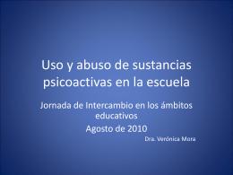 Uso y abuso de sustancias psicoactivas en la escuela