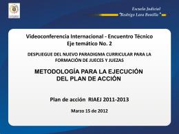 IMPLEMETACIONEJE2 - Red Iberoamericana de Escuelas