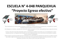 Proyecto Egreso efectivo