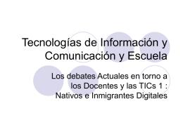 Tecnologías de Información y Comunicación y Escuela