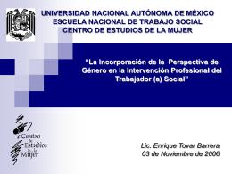 Universidad Nacional Autónoma de México Escuela Nacional de