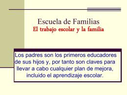 Escuela de Familias El éxito escolar