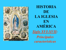 Historia de la Iglesia en América (S. XVI