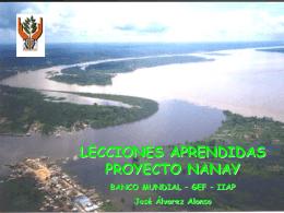 Lecciones Aprendidas del Proyecto Nanay