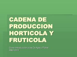 CADENA DE PRODUCCION HORTICOLA