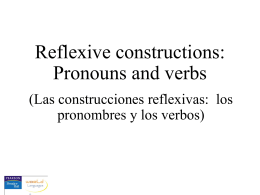 Reflexive constructions