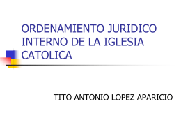 ordenamiento juridico interno de la iglesia catolica